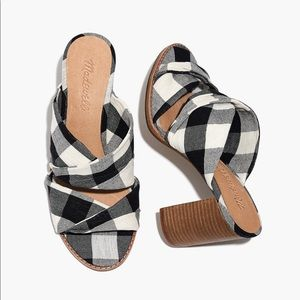 Madewell Twist Sandals in Gingham